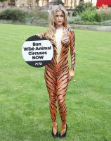 Joanna Krupa  bodypaint while protesting outside 3