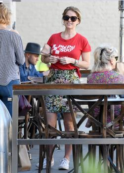 Alice Eve has lunch at Cafe Gratitude 11